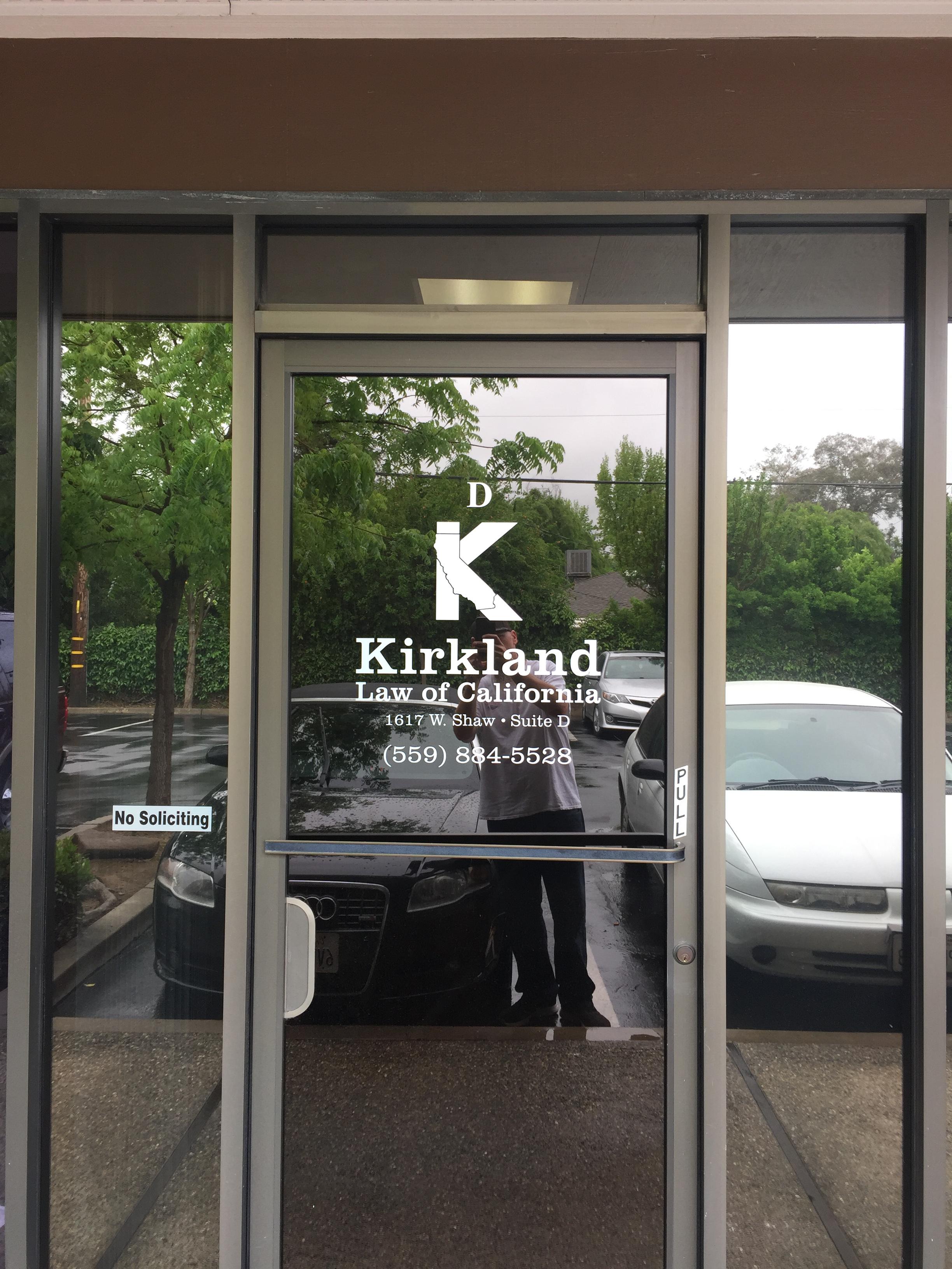 Kirkland Law Window Decal