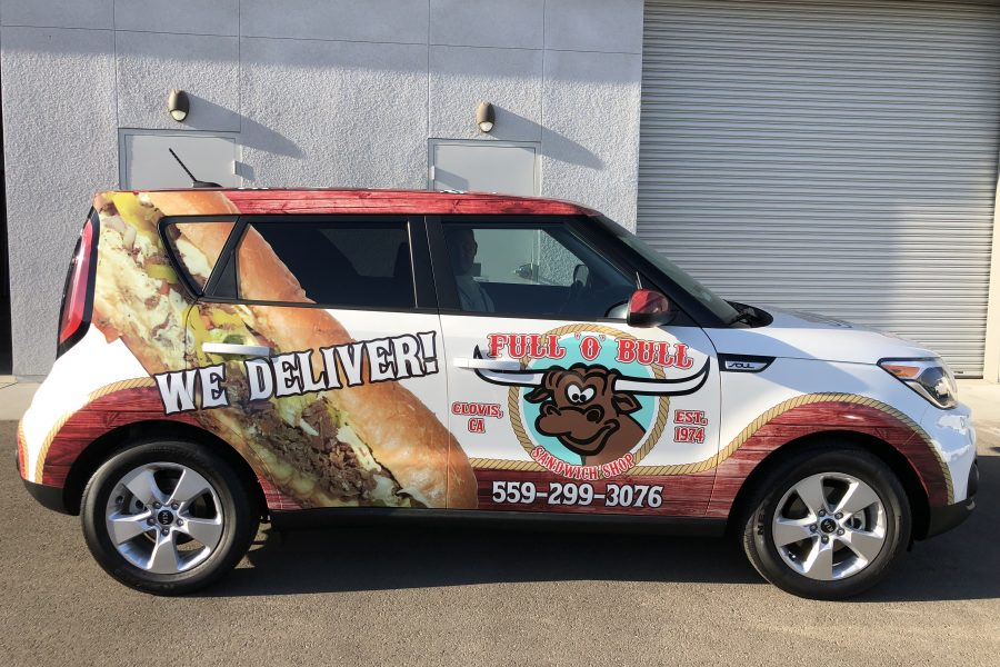 Full O Bull Vehicle Wrap